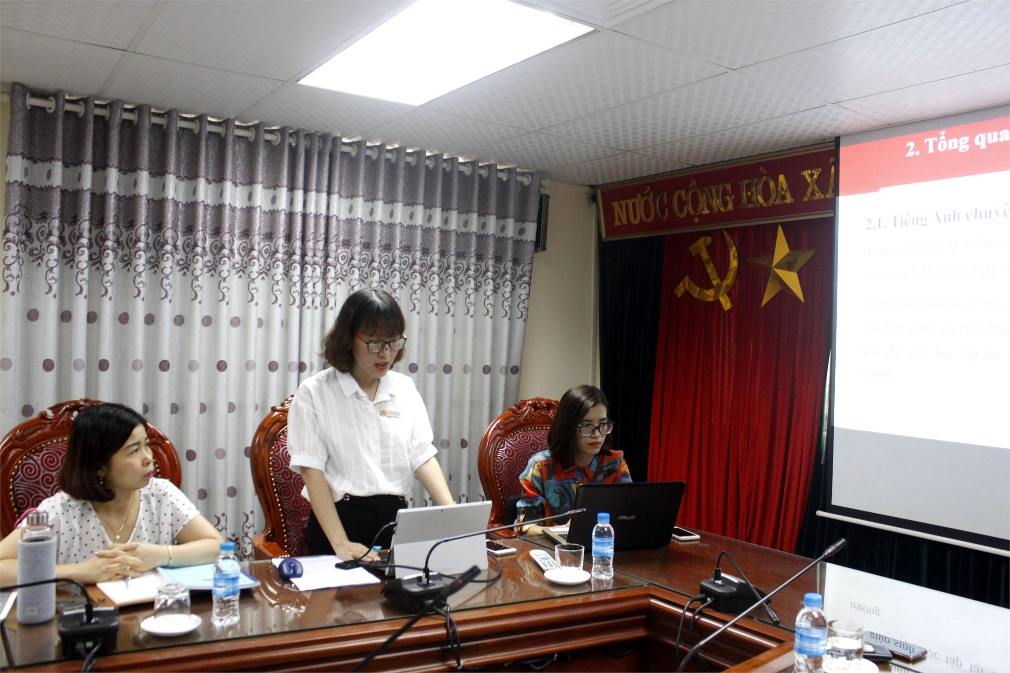 Nghiệm thu đề tài NCKH cấp Trường do TS. Trần Thị Duyên chủ nhiệm